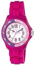 Tikkers NTK0001 - Reloj infantil, correa de goma color rosa