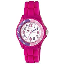 TIKKERS GIRLS TIME TEACHER PINK SILICONE RUBBER STRAP WATCH - NTK0001