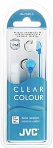 JVC HA-FX22-A-E Cuffia Intrauricolare di Qualità, Azzurro