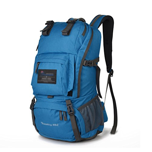HWLXBB Outdoor Bergsteigen Tasche Männer und Frauen 40L Wasserdichte Mehrzweck-Bergsteigen Tasche Wandern Camping Bergsteigen Freizeit Rucksack Rucksack 7*