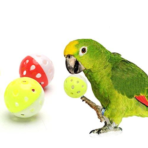Chiic - Juego de 3 Bolas Huecas para Loros de Mascotas, para periquitos, cacatúas, masticables, Jaula de Juguete