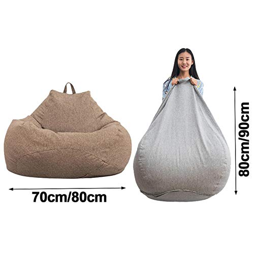 WARM ROOM Lazy Puff Sofas Impermeable Forro Interior Animal de Peluche