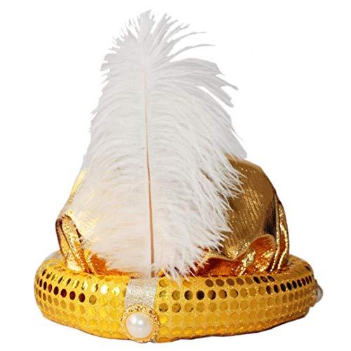 Aladdin Kostüm Erwachsene Für - 1pc Masquerade Cosplay Hut Aladdin Hut Stage Performance Zubehör für Kinder und Erwachsene (goldene)