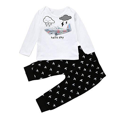 Babykleidung Satz, LANSKIRT Baby Kleinkind Junge Mädchen Set Outfits Leuchten Sie LED blinkende leuchtende T-Shirt + Hosen 0-3 Alter