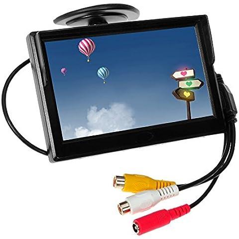 TFT LCD digital de pantalla de la pantalla del coche auto Eincar 5 pulgadas con sistema multi-idioma soporte de pantalla imagen coche de alta resoluci¨®n para coches de CD Reproductor de DVD Receptor 12V