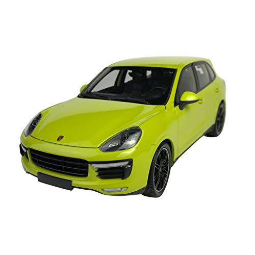 GAOQUN-TOY Ornements de modèles de Voitures en Alliage Porsche Cayenne Turbo S au 1/18 (Couleur : Green, Taille : 26cm*11cm*9cm)