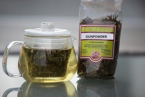 SABOREATE Y CAFE THE FLAVOUR SHOP Té Verde Gunpowder en Hoja Enrollada para Adelgazar 100 Gramos