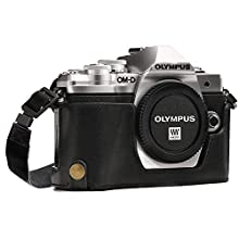 MegaGear MG969 Olympus OM-D E-M10 Mark II, E-M10 Leather Bags & Cases, Black