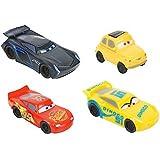 Disney Pixar – Cars 3 – Flash McQueen, Luigi, Cruz Ramirez et Jackson Storm – Mini Gommes