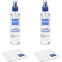 Zeiss Lens Care Pack - 2 x 8 Ounce Bottles Cleaner, 2 x Microfiber Cloth