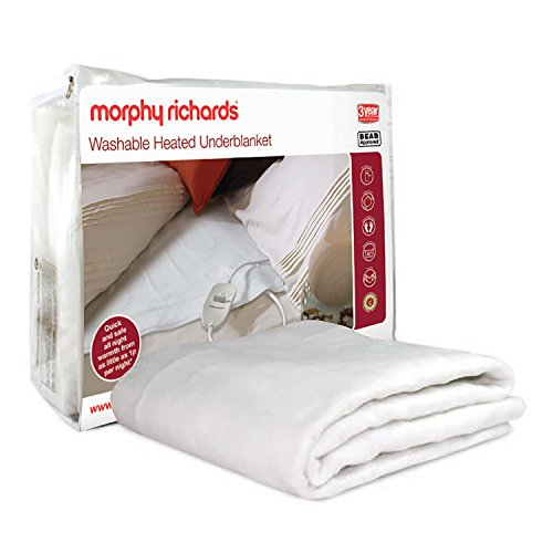 Morphy Richards Washable Heated Underblanket Electric Blanket Double White