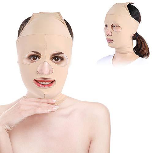 Dünne Gesichtsmaske, V Face Facial Lifting Mask Bandage Dünnes Gesicht Health Care Tool Gesichtsmassagegerät Beauty Mask für Frau und Mann(L)