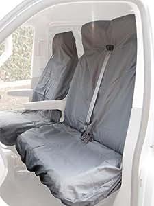 Citroen Berlingo Van Seat Cover - Complete Set (Front & Double) (Black)
