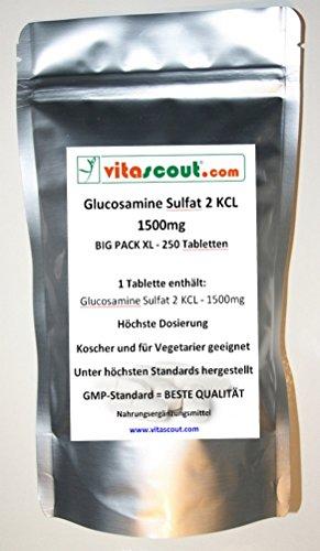 Glucosamine Sulphat - 1500mg PRO Tablette / 2 KCL - 250 Tabletten - PN: 010231