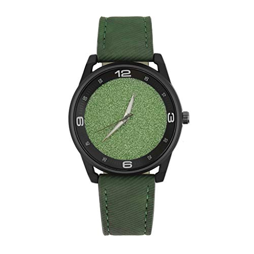 IG Invictus Simple Style Fashion Casual Damenuhr Quarz Uhr Lederband Uhr Einfache Mode Lederuhr für Damen ZYB 11 Grüne Dame im Mode Leder -