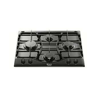 Hotpoint-Ariston PH 640 MS BK HA Plaque de Cuisson Gaz Intégrable 59 cm Noir