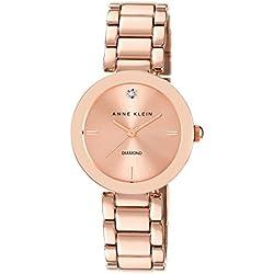 Anne Klein AK/N1362RGRG - Reloj para mujeres, correa de acero inoxidable color oro rosa