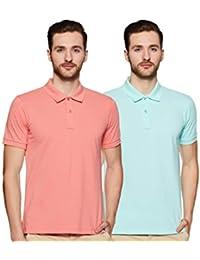 Amazon Brand - Symbol Men's Solid Regular Half Sleeve Polo