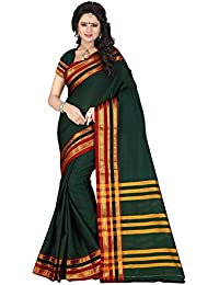 Harsh Sarees Poly Cotton Saree (Gud-1292_Green)