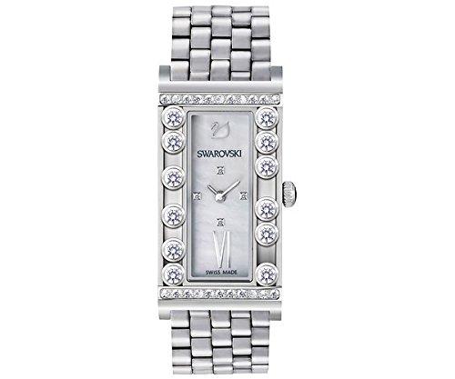 Orologio swarovski da donna modello lovely crystals in acciaio con cristalli trasparenti che si muovono 5096682