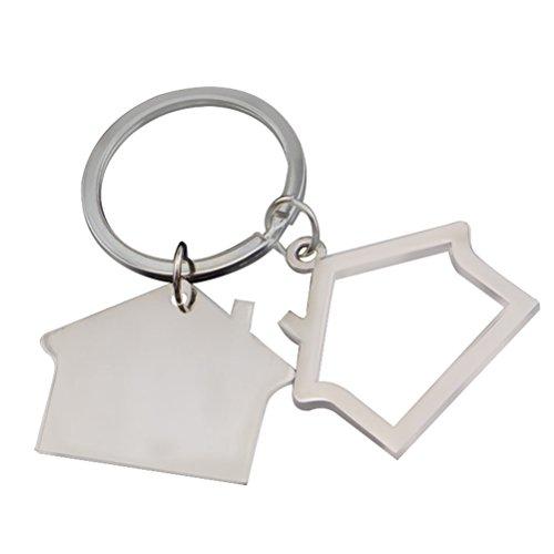 Drawihi Kreatives Haus Schlüsselring Cottage kleines Geschenk Anhänger Schlüsselanhänger, 7.2 * 3.8 cm