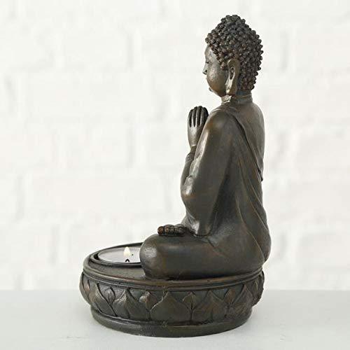 Buddha Teelichthalter im 2er Set je 19 cm - 8