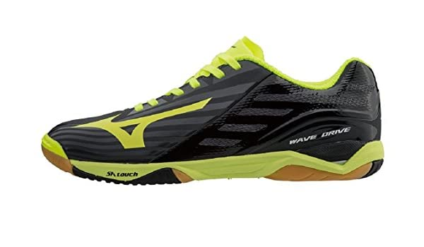 Mizuno Wave Drive Z for table tennis in black and yellow 7298e9bdff8