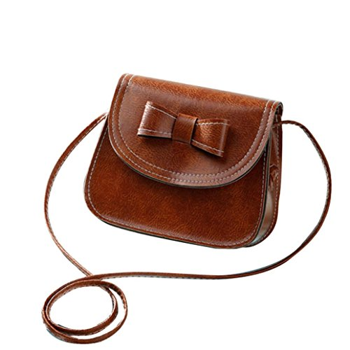 Transer Women Shoulder Bag Popular Girls Hand Bag Ladies PU Leather Handbag, Borsa a spalla donna Multicolore Green 17cm(L)*16(H)*7cm(W), Grey (Multicolore) - CQQ60901349 Brown