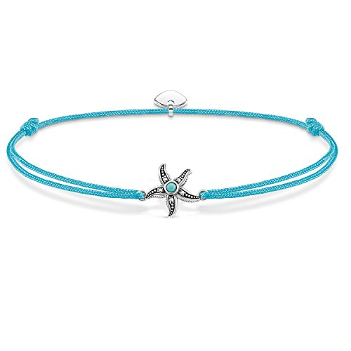 THOMAS SABO Damen Armband Little Secret Ethno Seestern Ethno Seestern Little Secret 925er Sterlingsilber, Geschwärzt, Nylon LS021-378-31