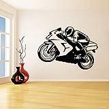 yaoxingfu Regalos de Motocicleta Extraíbles Pegatinas de Pared para la Sala de Estar Decoración de Arte Murales Calcomanías de Vinilo Niños Dormitorio Decoración Rojo 84X119 cm