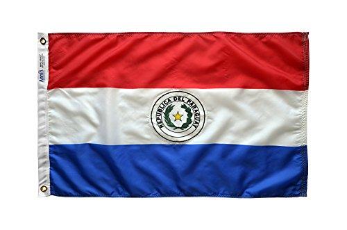 Paraguay Flagge 3x 5ft. Nylon solarguard nyl-glo 100% Made in USA zu offiziellen Vereinten Nationen Design Spezifikationen von Annin flagmakers. Modell 196612