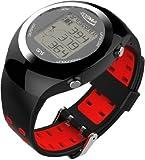 POSMA GT2 Orologio da golf con allenatore personale, telemetro GPS, + tracciante dell'attivita' rosso