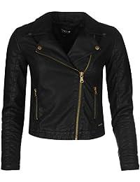 Firetrap Blackseal Kate Biker Jacket Womens Black Jacket Coats Outerwear