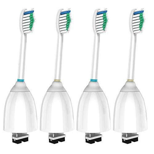 PEPECARE 4 stk Ersatzbürsten Aufsteckbürsten Zahnbürstenköpfe kompatibel mit Philips Sonicare E Series Essence, Xtreme, Elite, Advance und CleanCare, HX7002/7022