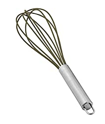 LoveHome Silicone Wire Whisk with Stainless Steel Handle, Grey
