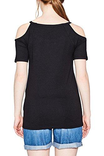 ESPRIT Damen T-Shirt Schwarz (Black 001)