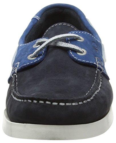 Quayside Alderney, Chaussures Bateau Mixte Adulte Bleu (Navy/Cobalt)