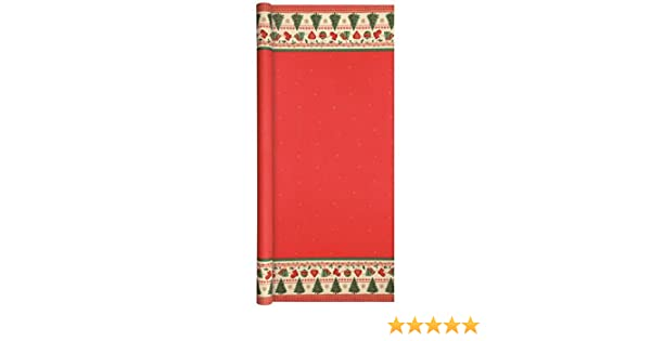 Home Fashion Papiertischdecke Airlaid Tischtuchrolle Weihnachten rot 500x120cm