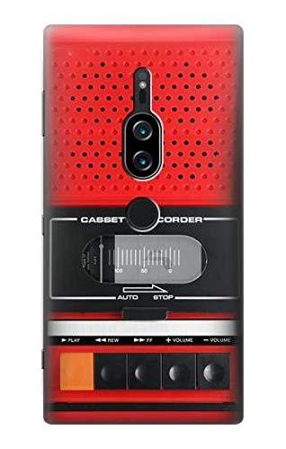 Innovedesire Red Cassette Recorder Graphic Hülle Schutzhülle Taschen für Sony Xperia XZ2 Premium