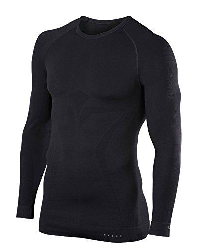 Cross Long Sleeve Shirt Schwarz (FALKE Herren Unterwäsche Maximum Warm Longsleeve Shirt Tight, Black, XL)