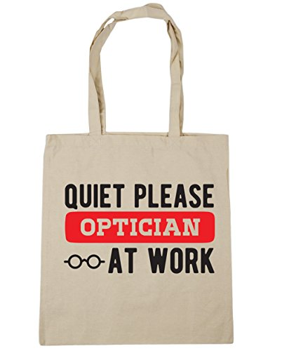 hippowarehouse-quiet-please-optician-at-work-tote-shopping-gym-beach-bag-42cm-x38cm-10-litres