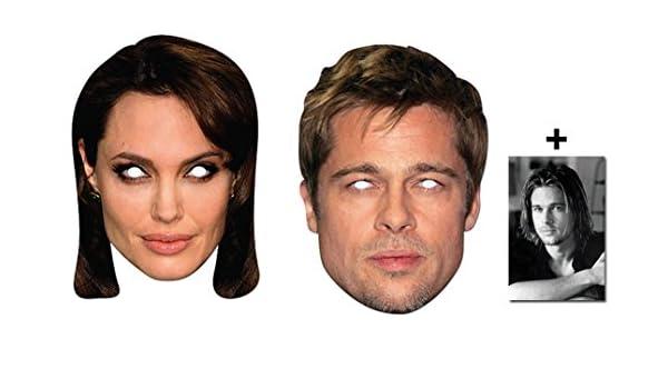 Brad Pitt & Angelina Jolie Karte Partei Gesichtsmasken (Maske ...