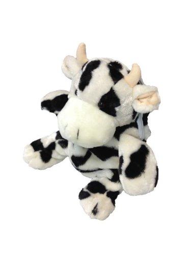 (Foxxeo 11014-STD | Deluxe Kinderrucksack Kuh Rucksack Plüsch 30 cm schwarz weiß Kuhrucksack Kind für Kinder Träger verstellbar schwarzer weißer)