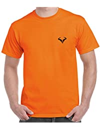 T Shirt - Rafael Nadal Printed Cotton T Shirt - Rafael Nadal T Shirt - Orange Color Cotton T Shirt