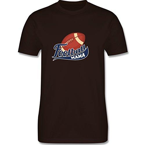 Sonstige Sportarten - Football Mama - Herren Premium T-Shirt Braun