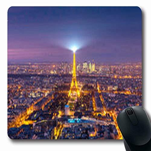 Mousepads Pink Paris Frankreich 26. Dezember Mainemontparnasse Aerial Night Parks Panorama im Freien Oblong Gaming Mouse Pad rutschfeste Gummimatte -