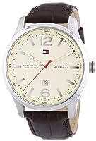 Reloj analógico para hombre Tommy Hilfiger 1710315, mecanismo de cuarzo, diseño clásico, correa de piel.