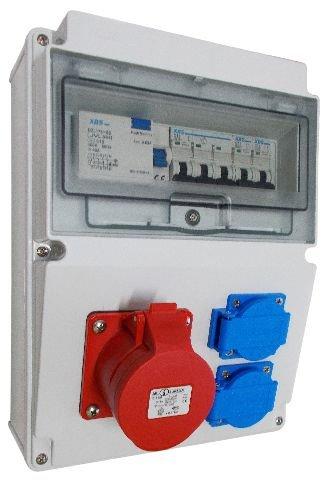 Wandverteiler CEE 16A + 230V + FI Stromverteiler Baustromverteiler Feuchtraumverteiler 2-6 -