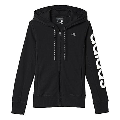 adidas AJ4579 Sweat-shirt à capuche Femme Noir/Blanc FR : XL (Taille Fabricant : XL)