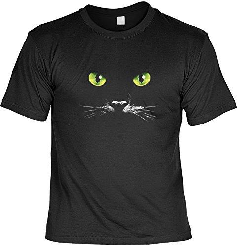 Katzen Augen T-shirt Schwarze Katze Fb schwarz Größe 4XL